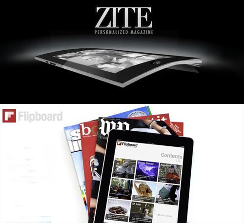 Henkilökohtaiset nettilehdet Zite ja Flipboard