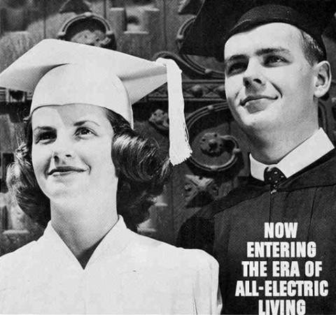 Vintage-mainos Edison