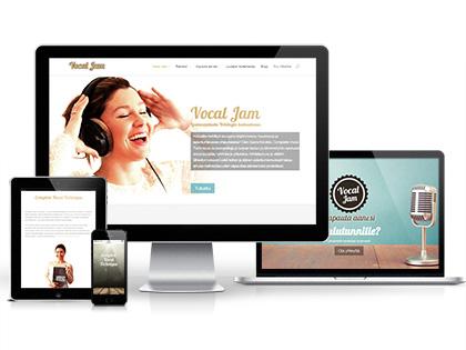 Vocal Jam - responsiivinen WordPress sivusto thumbnail