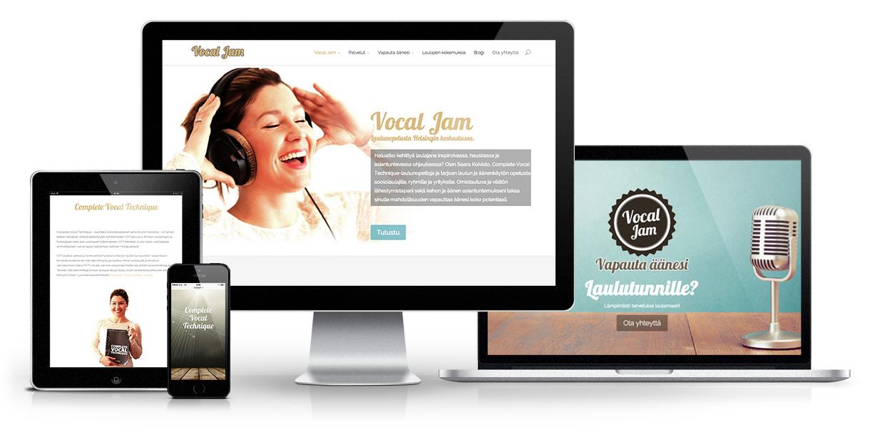 Vocal Jam - responsiivinen WordPress verkkosivusto
