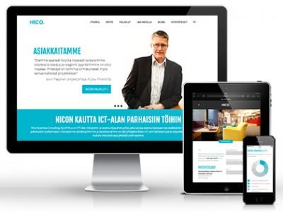 Nico - responsiivinen WordPress verkkosivusto