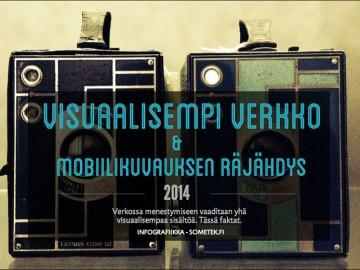 Infograafi: visuaalinen verkko ja mobiilikuvauksen räjähdys