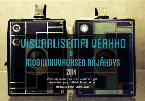 Infograafi: visuaalisempi verkko ja mobiilivalokuvaus