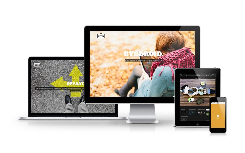 Byodroid - responsiivinen WordPress verkkosivusto