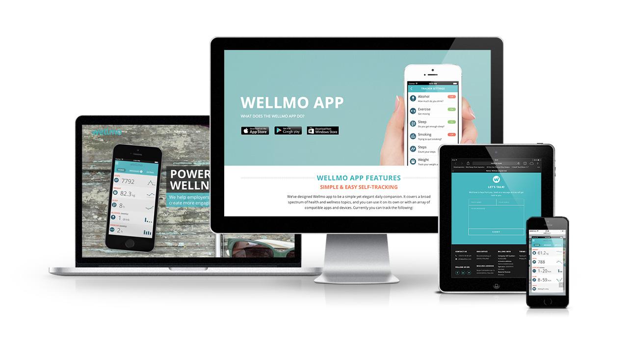 Wellmo responsiivinen WordPress sivusto