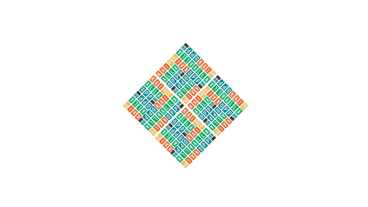 Kaikkialla oppii – logo, variaatio