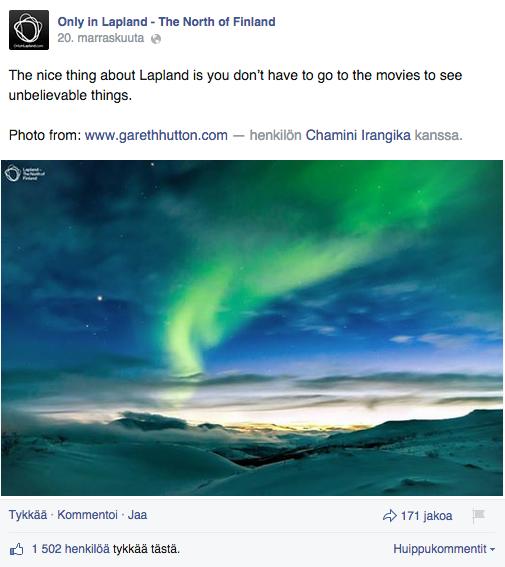 Mobiilikuvaus - yrityksen Facebook sivu