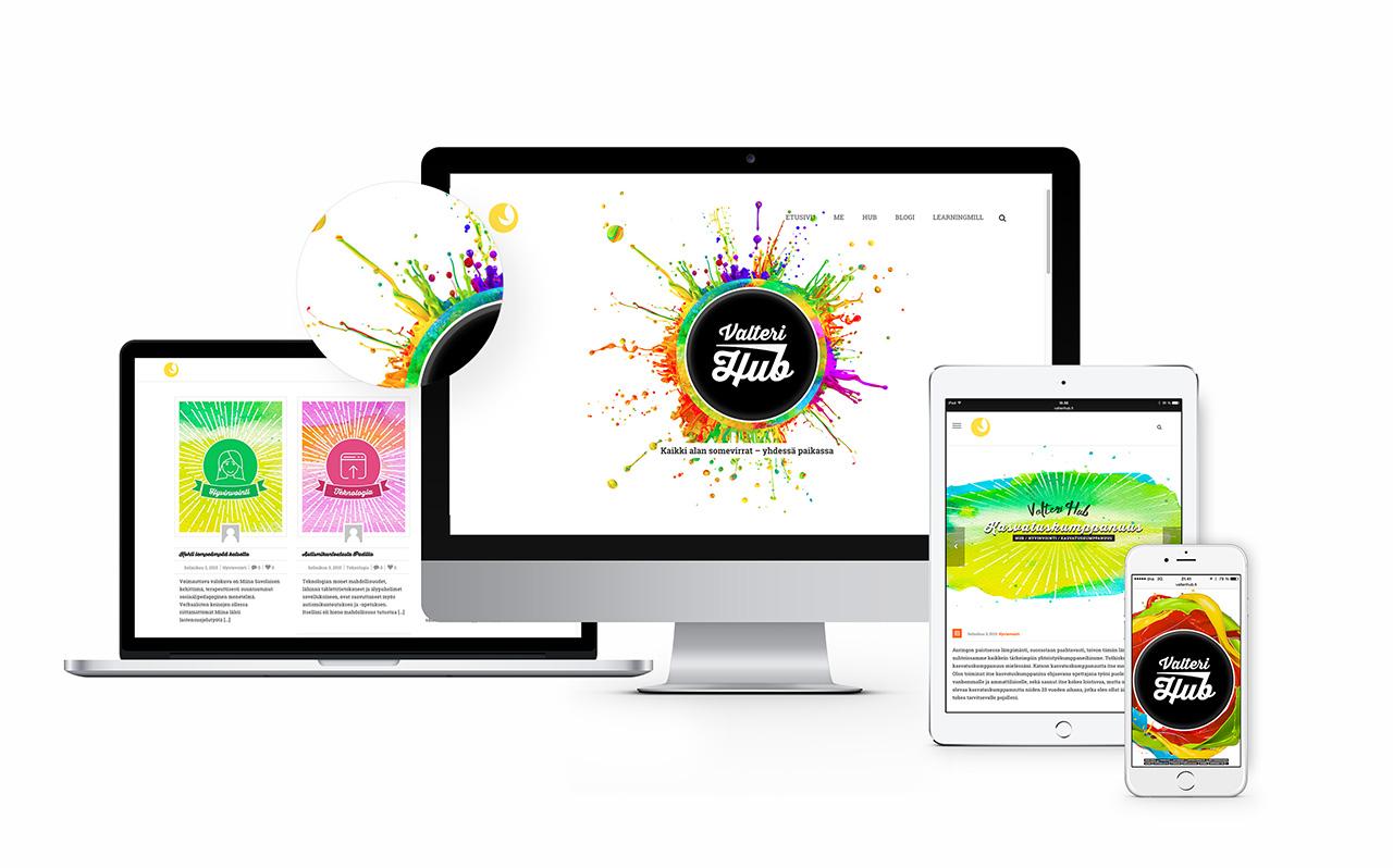 ValteriHUB - responsiivinen WordPress verkkosivusto