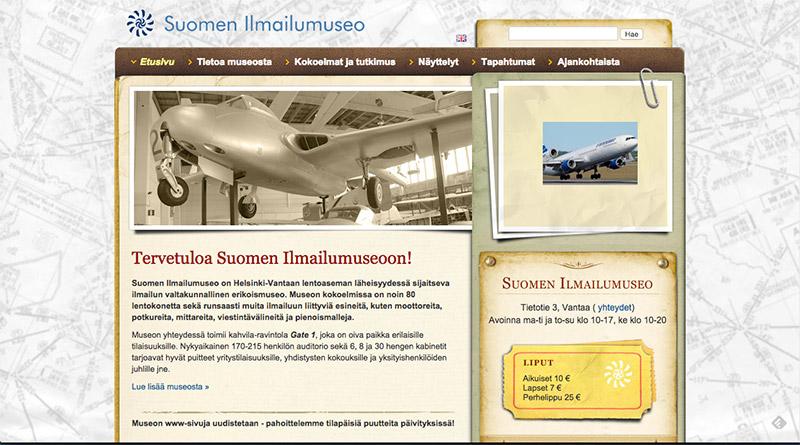 ilmailumuseon vanhat sivut - taitto