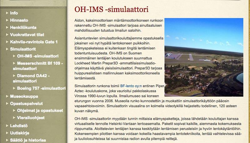 verkkosivujen-uudistus-simulaattorit-ennen