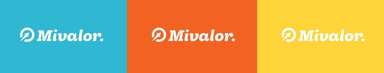 Mivalor - logosuunnittelu, taustavärit