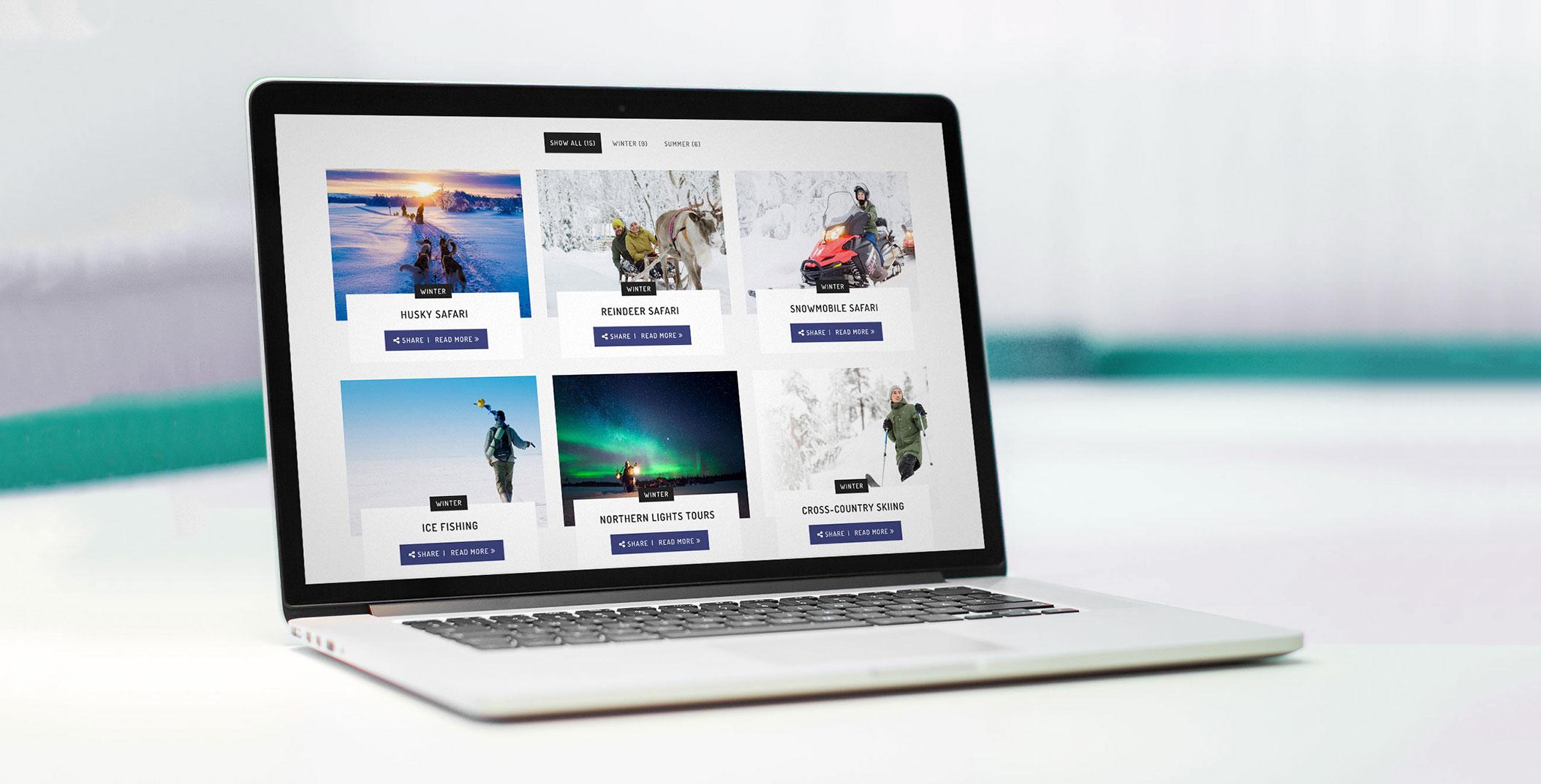 star arctic hotel verkkosivut visuaalinen ilme